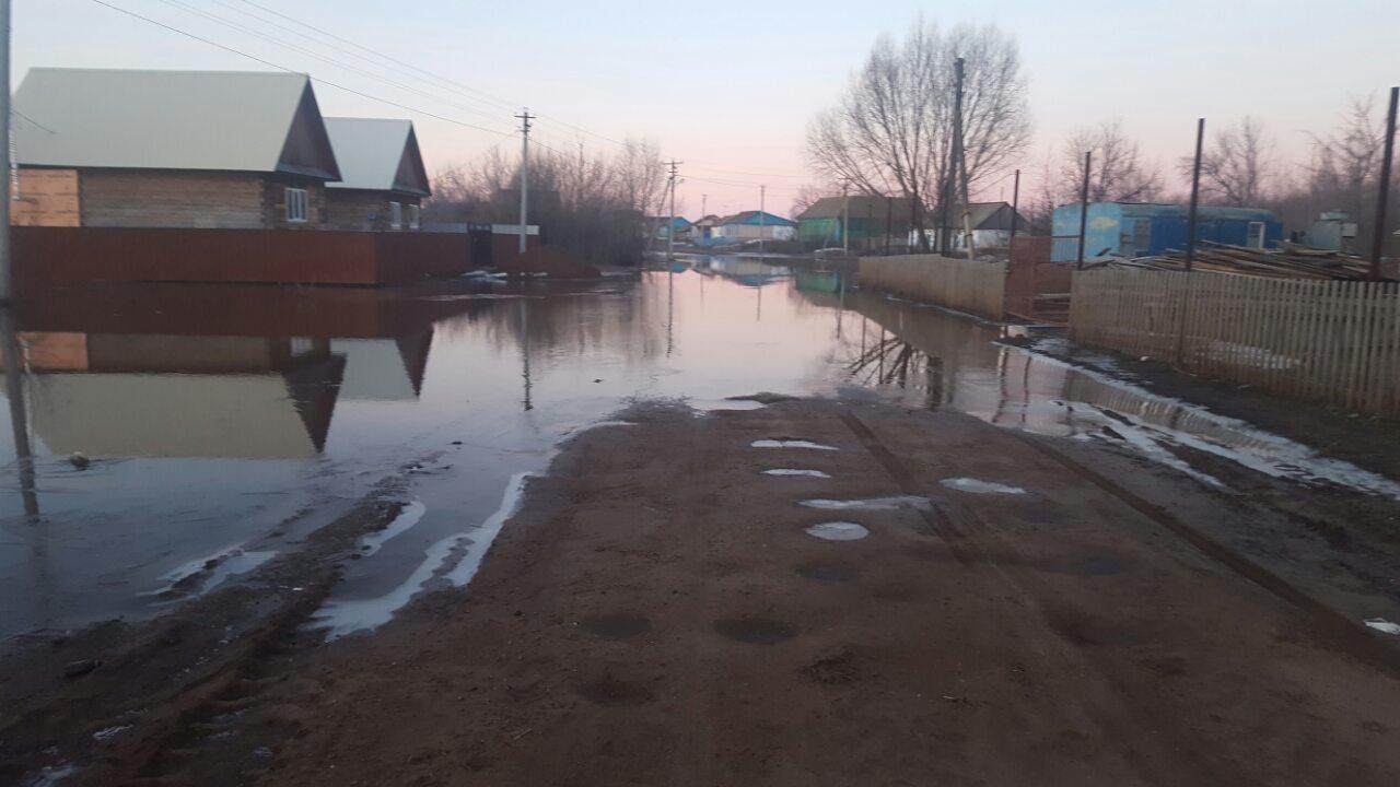 ВТоцком районе село Кирсановка оказалось в небезопасной зоне паводка