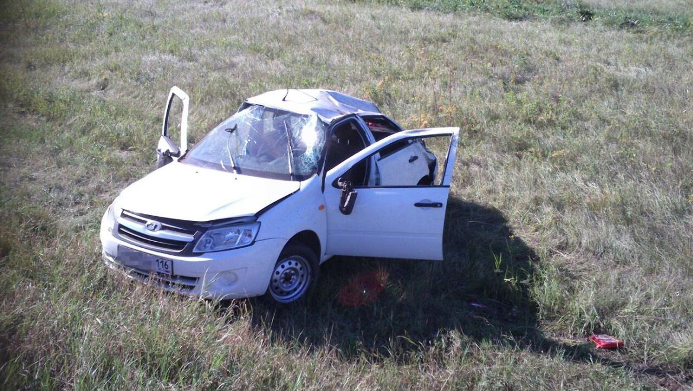 Житель Казани перевернулся на трассе в Пономаревском районе