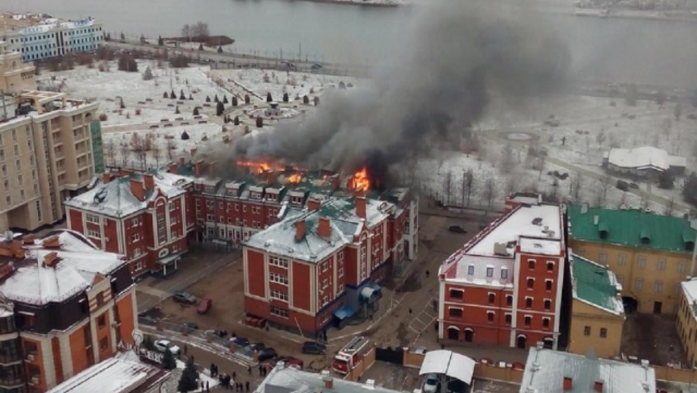 На ул.Островского в Казани произошло возгорание офисного здания