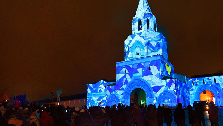 На стенах Казанского Кремля стартовало уникальное световое шоу