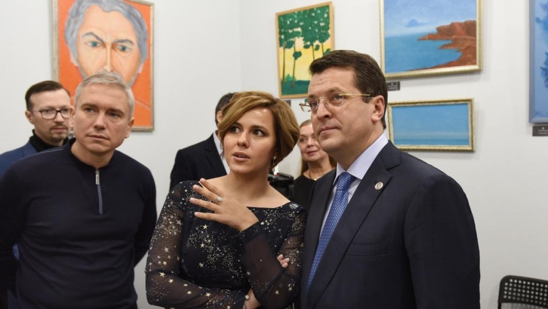 Ильсур Метшин посетил выставку Игоря Калинаускаса в новой арт-галерее Казани