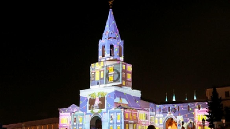 Казанцы встретят весну новым световым шоу на стенах Спасской башни