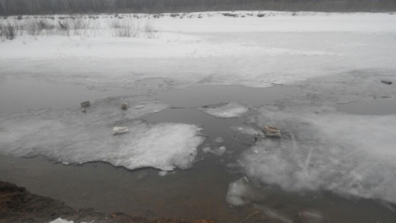 В Оренбурге женщина провалилась под лед
