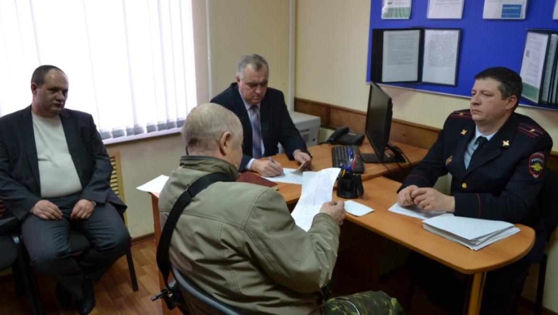 Прием оренбуржцев начальником МУ МВД России «Оренбургское»
