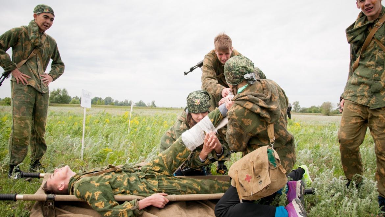 В Оренбуржье завершился областной финал военно-спортивной игры «Зарница»