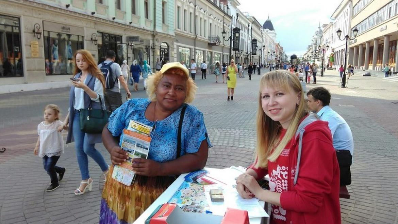 Волонтеры помогли более 25 тыс. туристам в рамках проекта «Гостеприимная Казань»