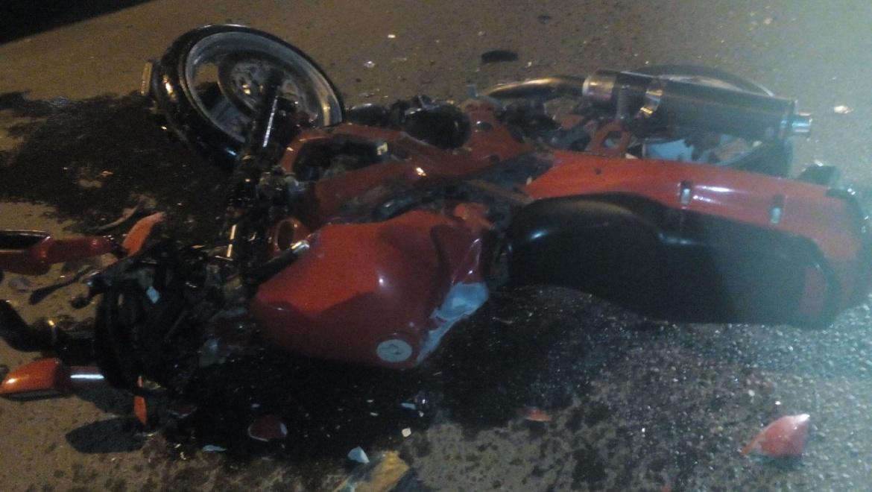 Автоледи не уступила дорогу мотоциклисту