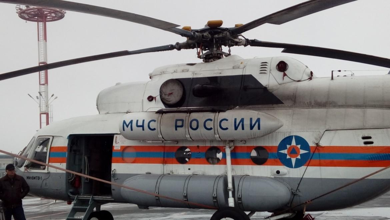 Борт Ми-8 из будет помогать Оренбургским специалистам МЧС во время паводка