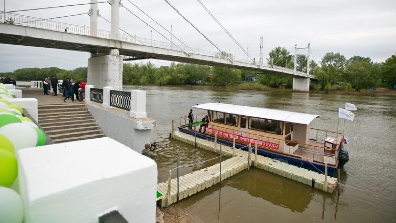 В Оренбурге запущен первый речной трамвай