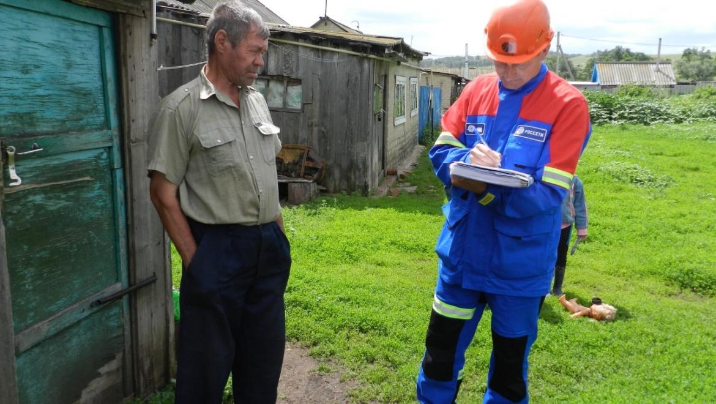 Энергетики провели рейд в Шарлыкском районе