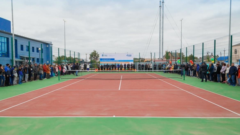 «Газпромнефть-Оренбург» подарил новосергиевцам теннисный корт