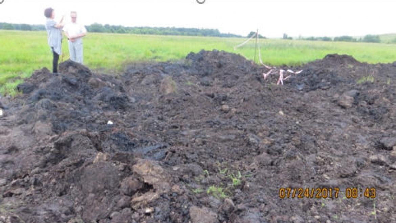 Из-за розлива нефти уничтожено более 3800 кв. м почвенного покрова