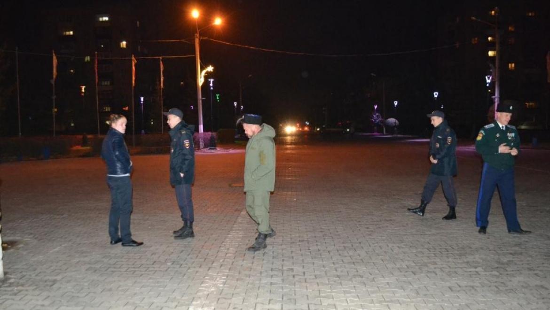 Полиция с казаками вышли в рейд