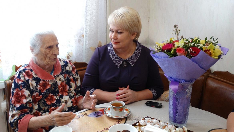 Труженица тыла отметила 90-летие