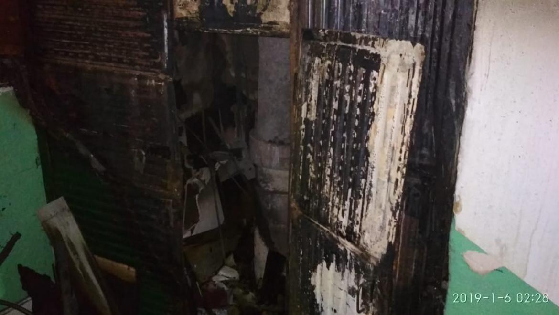 Пожар в 9-этажном доме Оренбурга