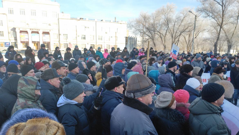 Митинг за отставку главы Орска и Правительства