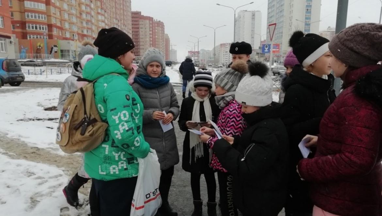 На дорогах Оренбурга проводится мероприятие «Пешеход на дороге»