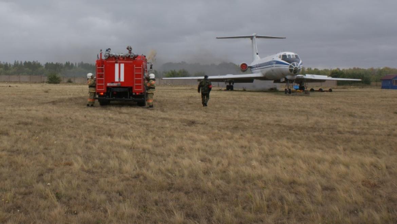 Пожарно-тактические учения  в аэропорту города Оренбурга
