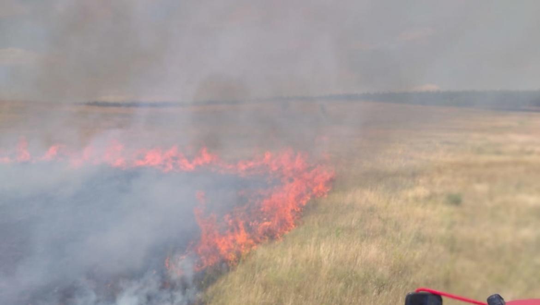 Пожар на территории Первомайского района