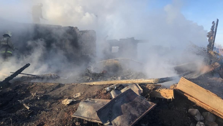 Пожар в селе Екатеринославка