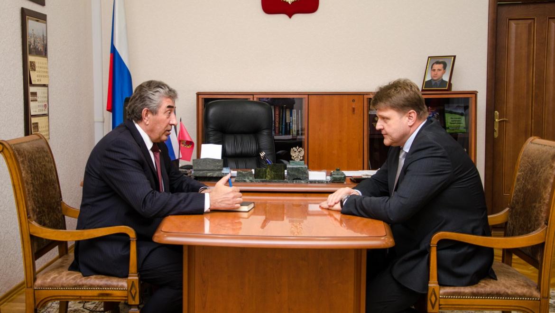 Встреча с председателем Законодательного Собрания области