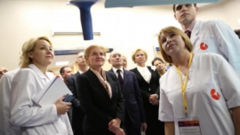 Ольга Голодец и Рустэм Хамитов приняли участие в открытии клинического госпиталя «Мать и дитя»