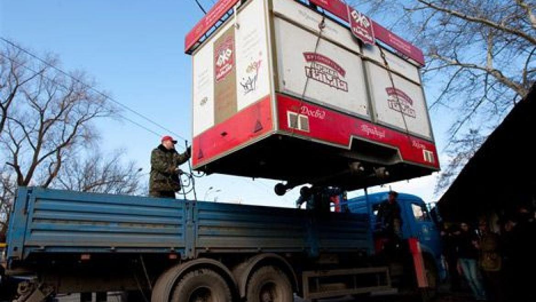 В Советском районе Казани демонтированы незаконно установленные объекты торговли