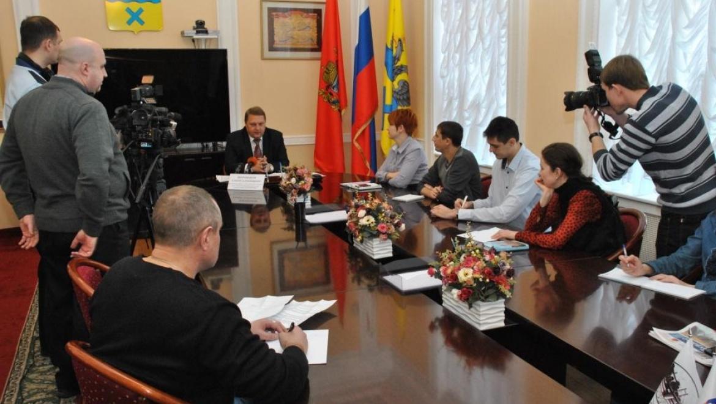 Александр Широбоков рассказал журналистам о развитии предпринимательства