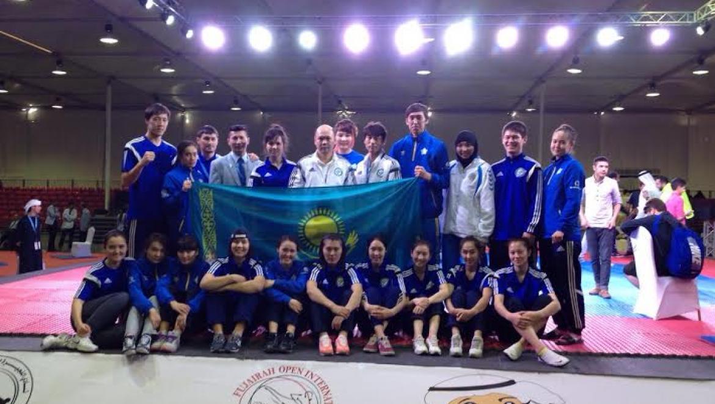 Казахстанские таеквондисты завоевали 10 медалей на международном турнире в Объединенных Арабских Эмиратах