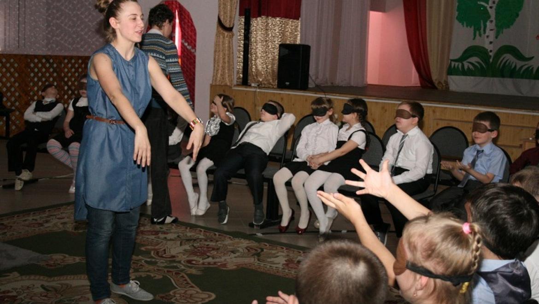 Слепым детям представлен уникальный спектакль-невидимка
