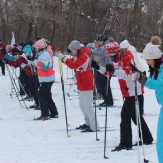 Полицейские устроили соревнования по лыжным гонкам