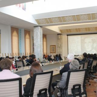 Открытие российско-немецкой выставки «Белая роза» в Национальную библиотеку Киргизской Республики