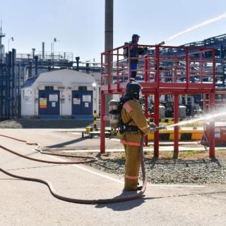 На Восточном участке Оренбургского нефтегазоконденсатного месторождения прошли учения