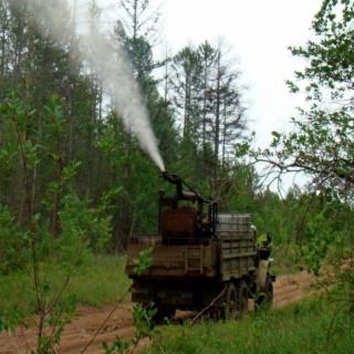 Проводится обработка лесов от вредителей