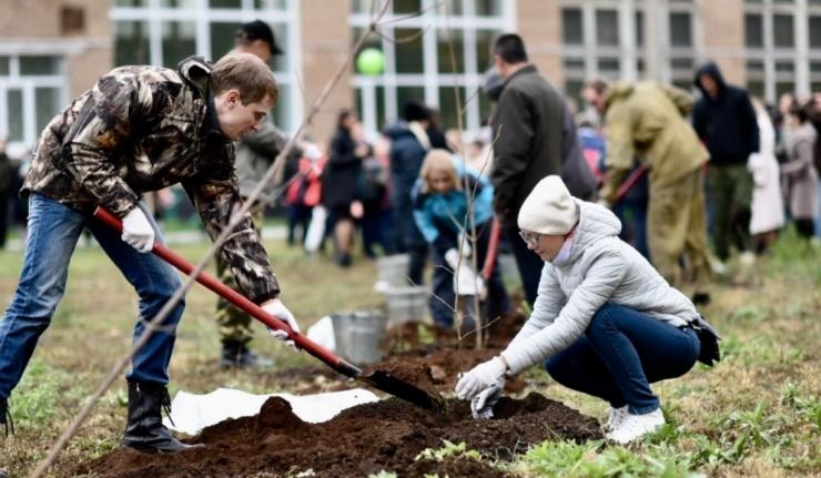 В Оренбуржье стартовал осенний этап акции «Миллион деревьев»
